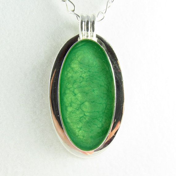 Large and Gorgeous Emerald Cracked Green  Necklace by ChaoticBliss, $45.00