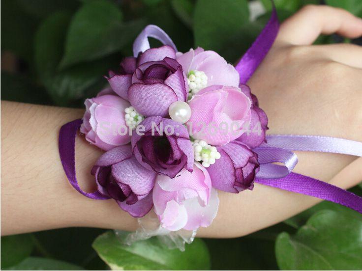 Свадьба поставки свадьба цветы корейский невесты до запястья ткань цветок жемчуг невесты сестры вручную цветы
