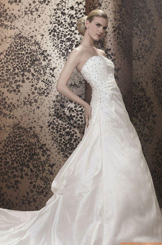 Buy Elegant Strapless Ball Gown Unique Taffeta Wedding Dress At Cheap Price