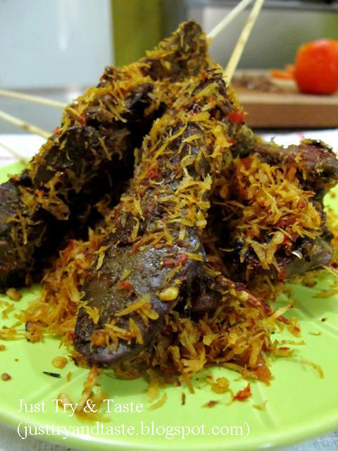 Just Try & Taste: Sate Hati Ampela Ayam Bumbu Serundeng
