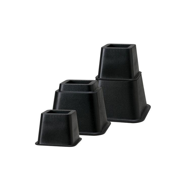 Creative Bath Adjustable Bed Riser System, Black