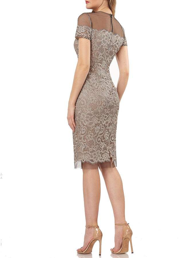 6dec5464d2 JS Collections Embroidered Lace Sheath Dress  Embroidered Collections JS