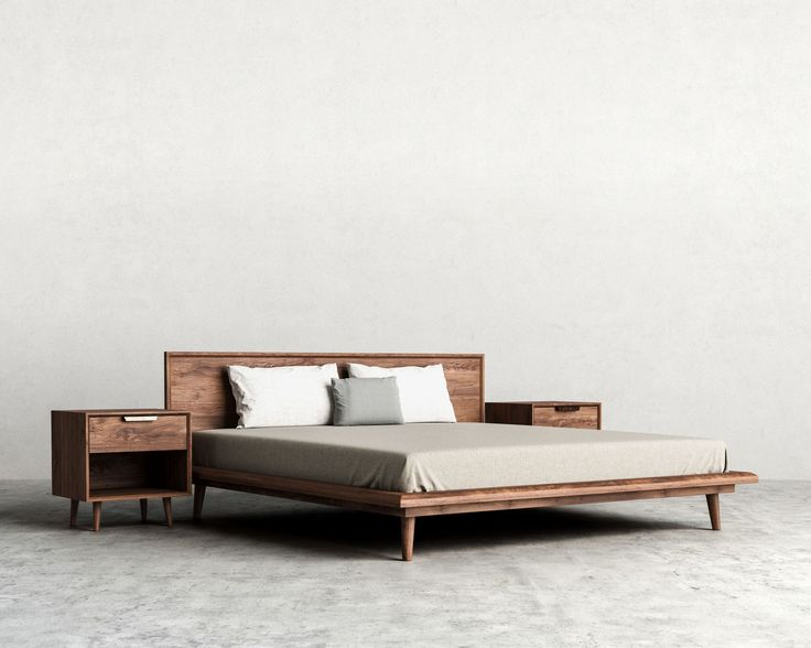 Asher Bed | Mid-Century Modern Bed | Rove Concepts