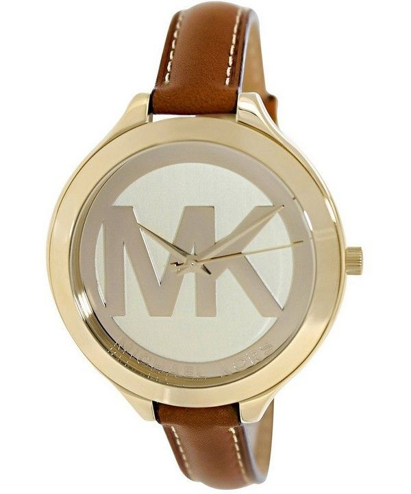 Michael Kors Runway Champagne Dial With MK Logo MK2326 Womens Watch