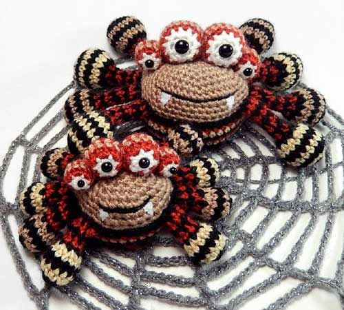 Crochet Amigurumi Spider : Spencer the spider amigurumi pattern by Janine Holmes at ...