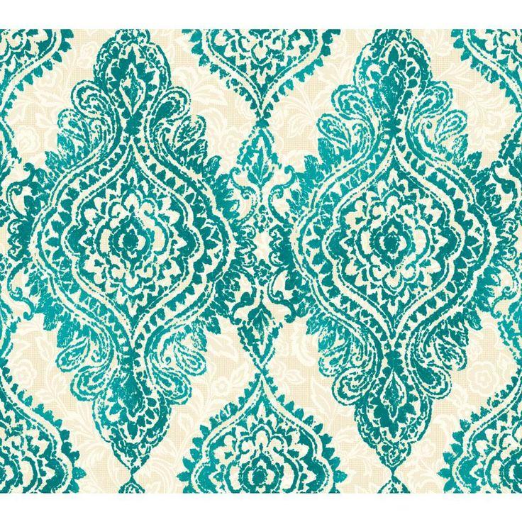 Aqua WH2709 Boho Chic Wallpaper Textiles Paisley