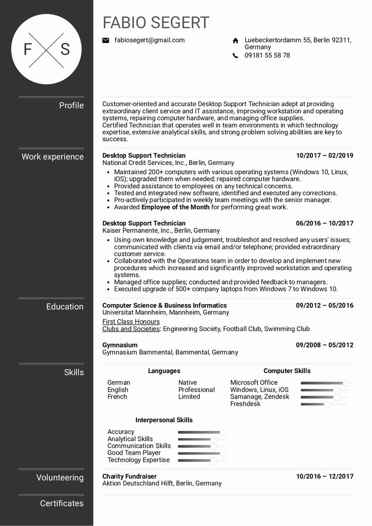 It Support Resume Examples Elegant Resume Examples by Real
