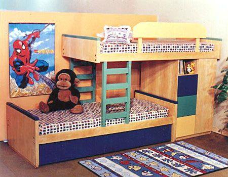 Cama camarote superpuesta desplazada : Dormitorios: Fotos de ...