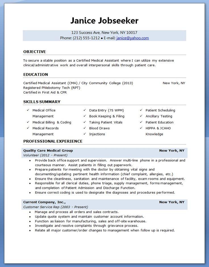 210 best Sample Resumes images on Pinterest Sample resume, Resume
