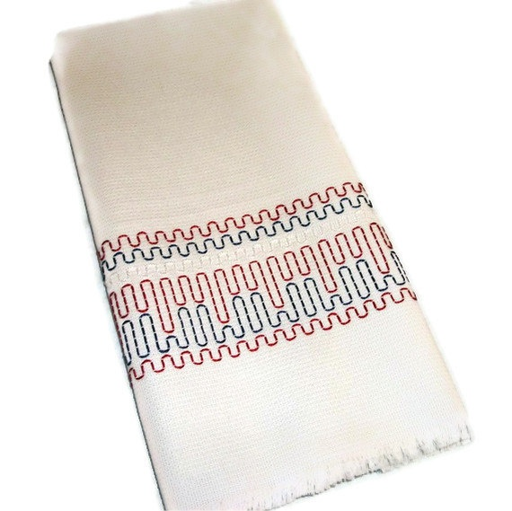 Kitchen Towel Swedish Weaving Huck by CanDoStitching on Etsy