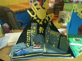 Diorama to teach different types of communities (urban, rural  and suburb and their characteristics)