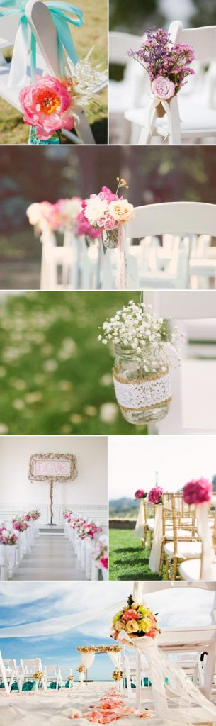 38 Chic and Romantic Ceremony Aisle Markers