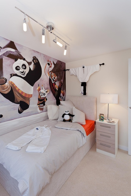 The Oakhurst single bedroom with 'Kung-Fu Panda motif' at Mandale Park, Thornaby