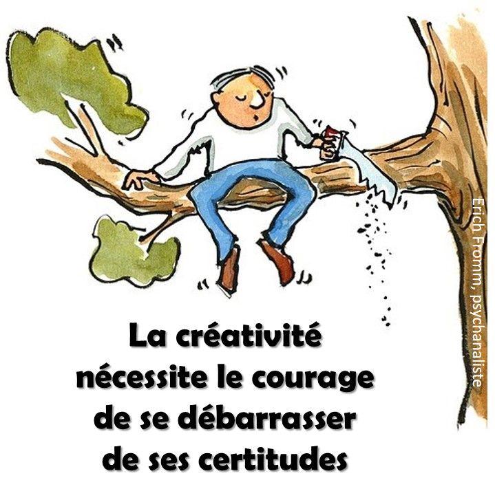 citation innovation | la créativité nécessite le courage de se débarrasser de ses certitudes