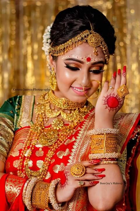 Pin by Axis Images - Wedding Films & Photography Kolkata India on Indian Wedding Brides in 2019 | Indian wedding bride, Bengali bridal makeup, Bengali bride