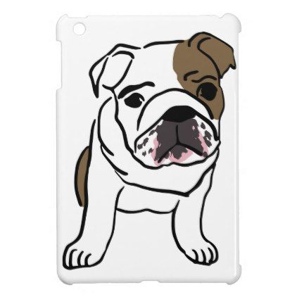 #Personalized English Bulldog Puppy Cover For The iPad Mini - #bulldog #puppy #bulldogs #dog #dogs #pet #pets
