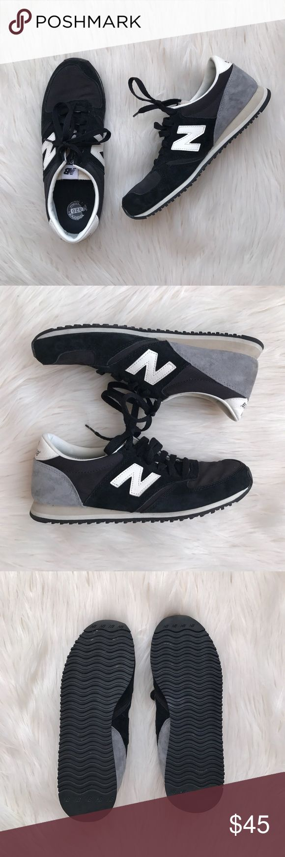 New Balance 420 Suede Runner Trainers in Black Urban Outfitters - Only worn a few times, like new condition! New Balance Shoes Athletic Shoes