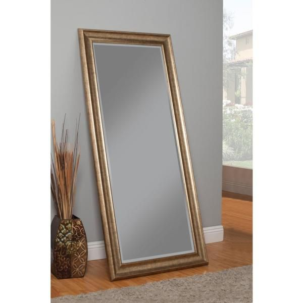 Martin Svensson Home Oversized Gold Plastic Beveled Glass Full Length Classic Mirror 65 In H X 31 In W 14111 The Home Depot In 2021 Leaner Mirror Leaning Mirror Floor Mirror