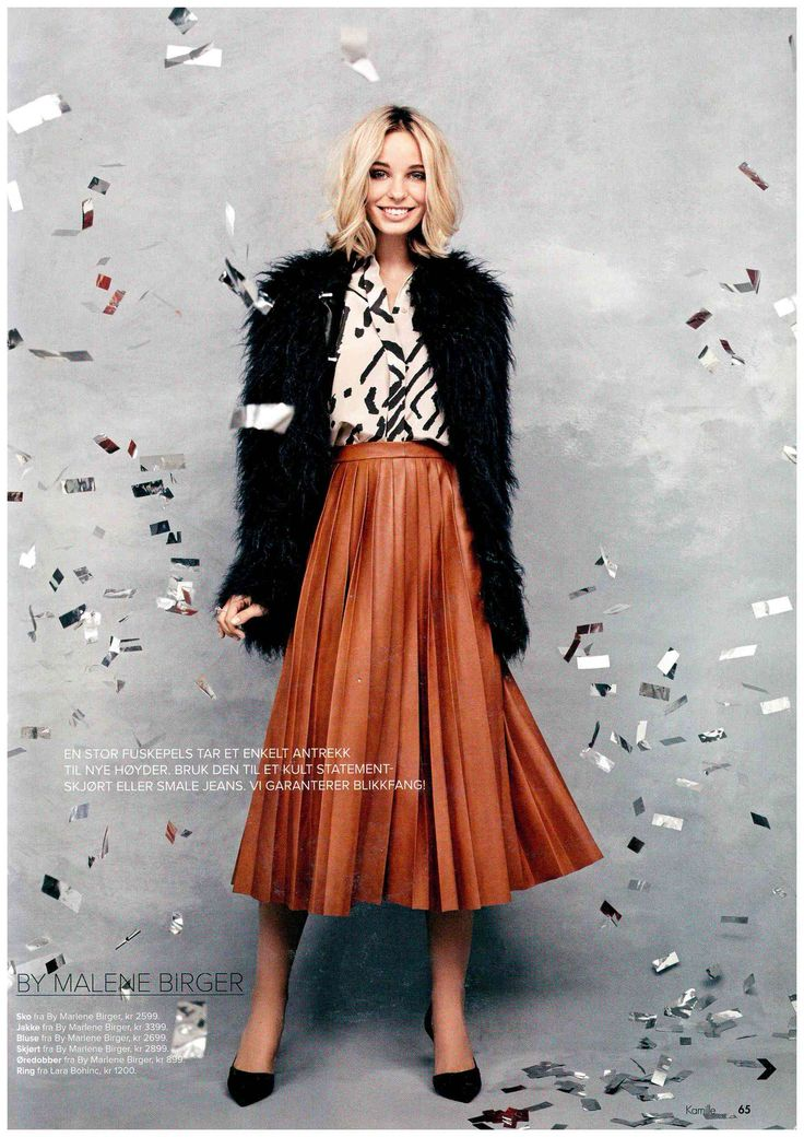 By Malene Birger in Norwegian Kamille.  Coat: Kancas Shirt: Jiilia Skirt: Asla Shoes: Royallow