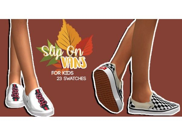 The Sims 4 KIDS SLIP ON VANS by hollowsprings | Sims 4 Kids