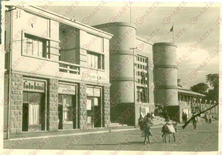1936 GONDAR (ETIOPIA) AOI La sede de IL POPOLO D'ITALIA e Fotografo BINI *Foto