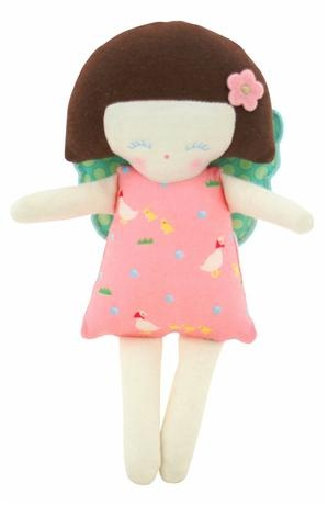 Alimrose Designs Fairy Doll Ratte    Price: $18.95    Description:    Colour:  Pink    Size:  Approx. 18cm    Age:  Suitable from newborn onwards    This adorable fairy ratte  will delight and provide baby with hours of entertainment - sure to become a favourite!