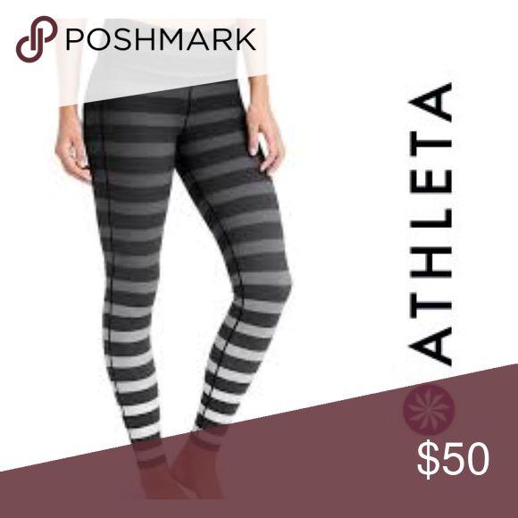 NWT Athleta Striped Pants Full length athleta striped pants. Athleta Pants Leggings