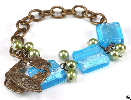 Jewelry Making Idea: Water Lily Floating Bracelet (eebeads.com)