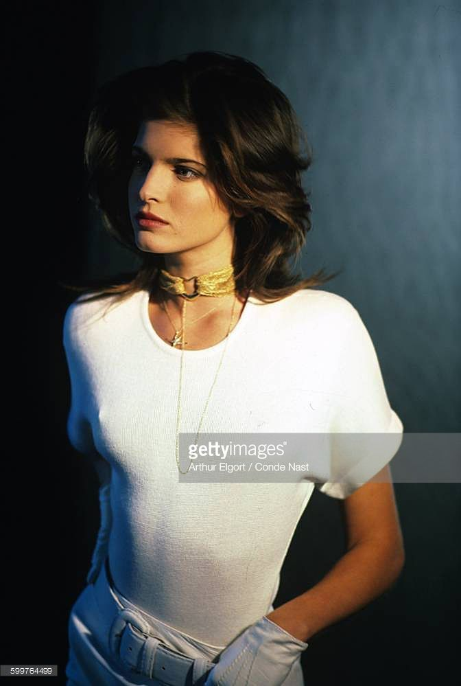 News Photo : Model Stephanie Seymour wearing Donna Karan's...