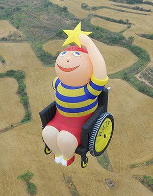 """Reach for the Stars"" hot air balloon - photo from reaach4thestars;  over 130 feet tall"