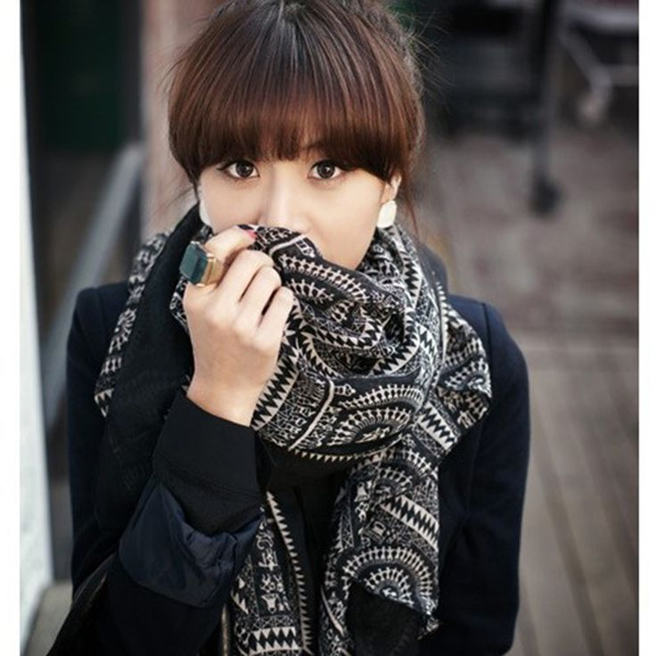 >> Click to Buy << Womens Scarfs Fashionable Korean Retro National Wind Circle Plaid Scarf Autumn And Winter Ladies Scarves Female Cotton Shawl #Affiliate