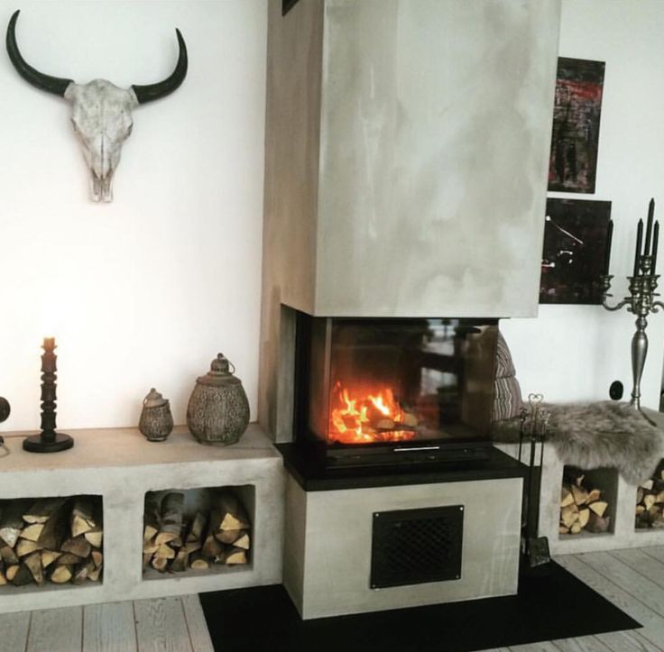 Cool fireplace.