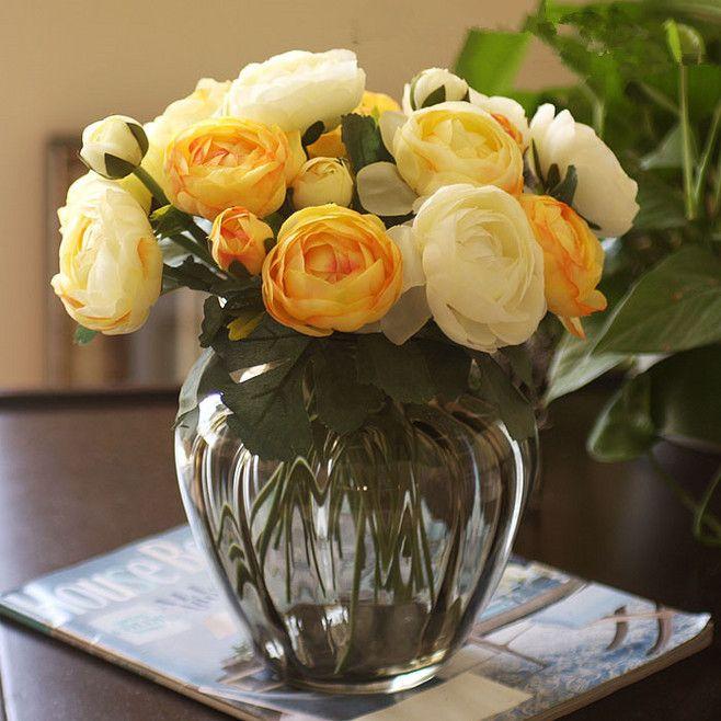 欧式古典浮雕高档彩色大玻璃花瓶花艺 插花...