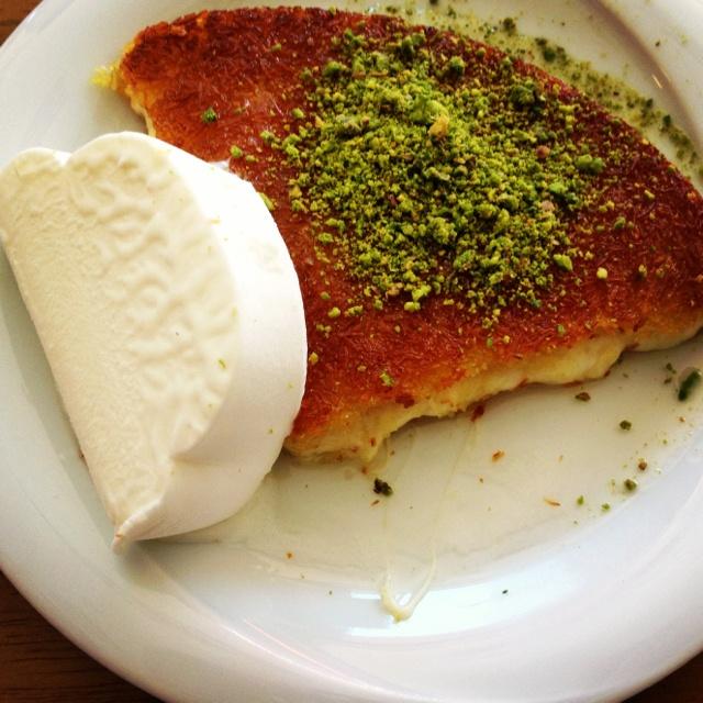 Turkish kunafeh with Turkish icecream... Delicious