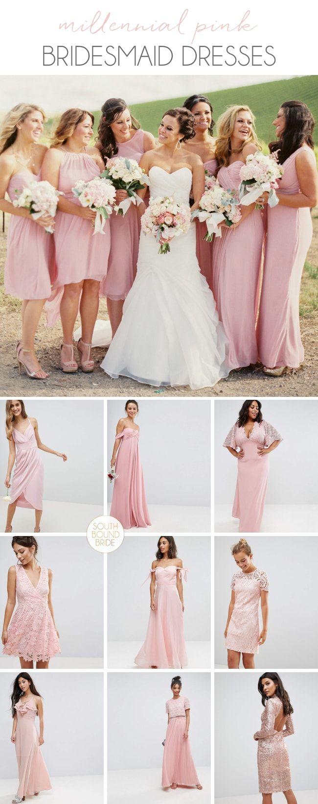 Millennial Pink Bridesmaid Dresses | SouthBound Bride