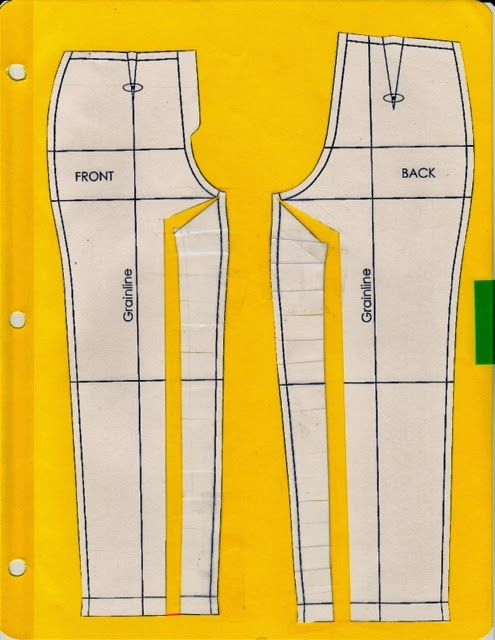 Pants pattern alterations