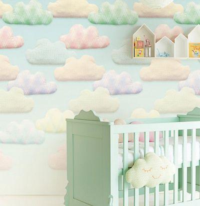 *** вместо этих обоев - другие, голубые с белыми облаками***фотообои для детской комнаты 354168 Eijffinger