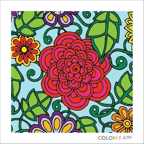 coloryfy ap flowers coloring bookflowers - Ap Coloring Book