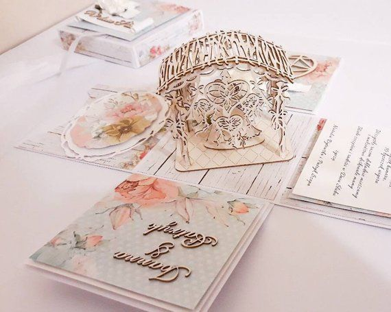 Exploding Box Explosionsbox Explosion Box Hochzeit Explosion Boxen Wedding Card Wedding Gift Hochzeit Karte Kartka Slubna Gifts For Nan Unique Wedding Souvenirs Wedding Cards