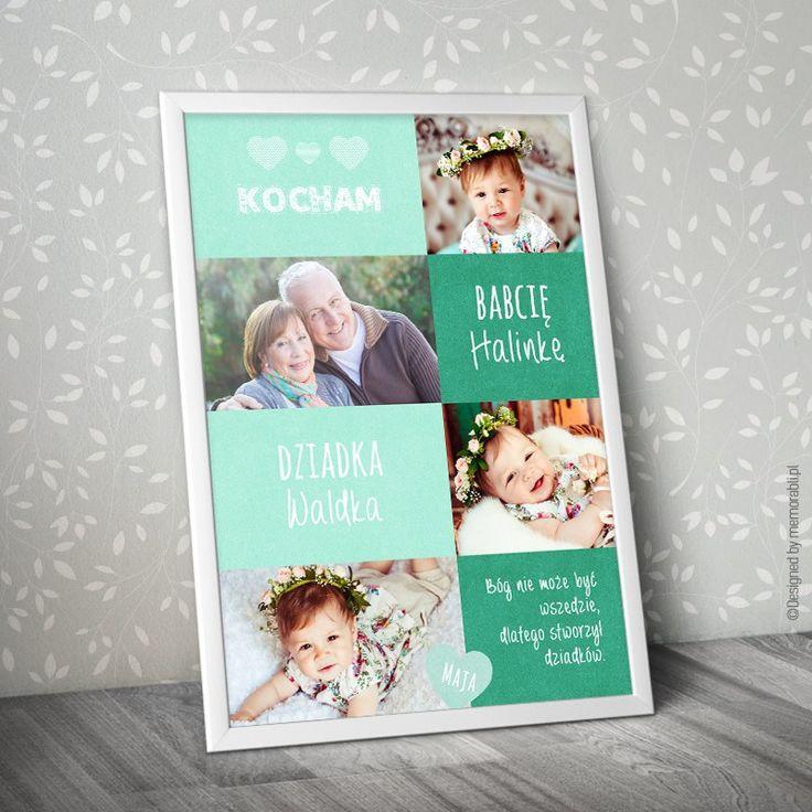 W pełni personalizowany plakat dla dziadków (może być tylko dla babci lub dziadka). #dzieńbabci #dzieńdziadka #dzienbabci #dziendziadka #dziadkowie #babcia #dziadek #prezent #święto #plakat #poster #nasciane #grandpa #grandma