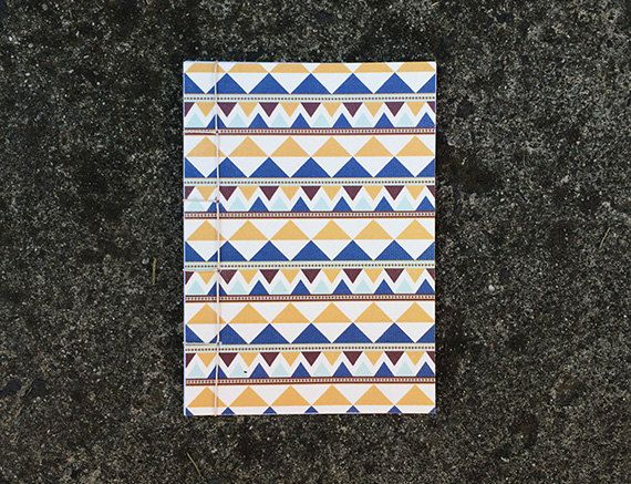 Japanese Bound A6 Notebook 'Arutha' geometric by TellThemStories