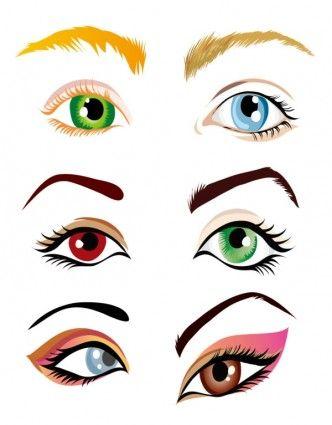 vector beautiful eyes