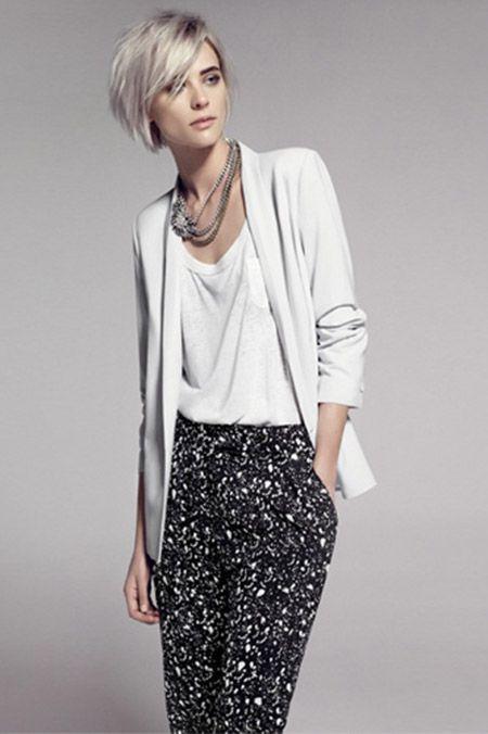 Volg de laatste trend, korte kapsels met zilveren en witte tinten.