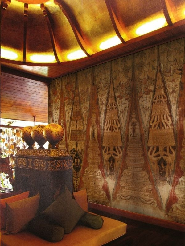 17 best images about thai style home interior design on for Asian mural wallpaper
