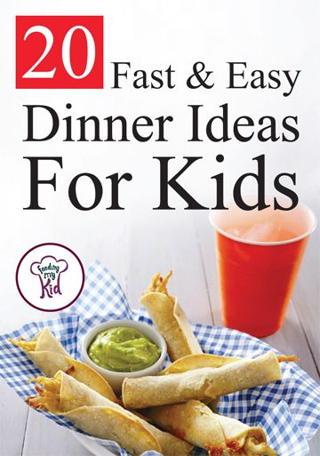 20 Fast and Easy Dinner Ideas For Kids - From a Hidden Veggie Pizza Recipe to a Cheesy Chicken Taquitos. These recipes are fast to make and will make a perfectly tasty dinner!