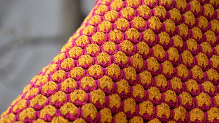 Урок вязания крючком - Узор Джелли. Crocheted Jelly Stitch