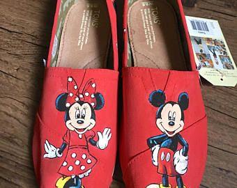 Pintados a mano Mickey y Minnie Toms