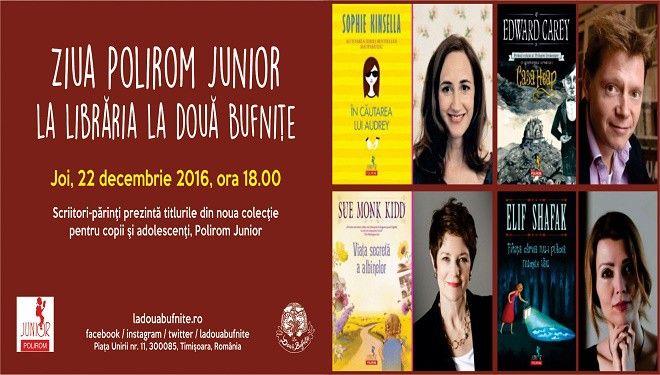 Joi, 22 decembrie 2016, la Timişoara, scriitori-părinţi prezintă noua colecţie Polirom Junior