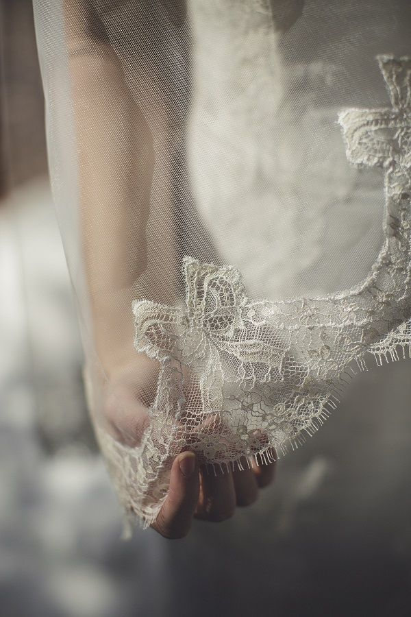 Unique french lace veil by Simply Brides