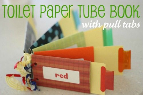 Toilet Paper Tube Book  wouldn't this be a fun way to do spelling words.  Put the word on one side, and a blank word strip on the other side and laminate it.  They could pull it out, say it, spell it, flip it over and write it, with a dry erase marker.  Could just use card stock and leave a little piece for the tab instead of cutting up dividers.